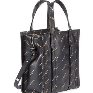 Balenciaga Bazar Shopper AJ XS Tote Bag,BlackGold